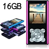 Tomameri 16GB Compact and Portable MP3 Player MP4 Player Video Player with E-Book Reader, Photo Viewer, Voice Recorder with a slot for a micro SD card (Pink)