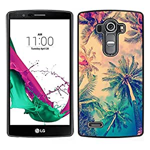 [Neutron-Star] Snap-on Series Teléfono Carcasa Funda Case Caso para LG G4 [Sun Summer Palm Trees La Los Angeles]
