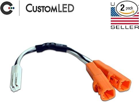 Amazon.com: OEM Turn Signal Y-Splitter Connectors Pair, 2-Wire, Fits Select Honda  Motorcycles: AutomotiveAmazon.com