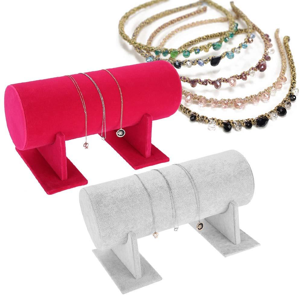 Betued Espositore per Gioielli Staffa per Cinturino a Fascia a 2 Colori Fascia per organizzatore di espositori per Capelli