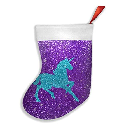 qiffan22 glitter unicorn christmas stockingsxmas stockingchristmas decorationsclassic xmas stocks for - Unicorn Christmas Decorations