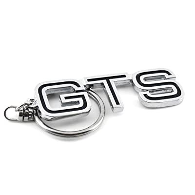 General 1PC Car Key Chain Chrome Metal Key Chain Rings GTS Auto Accessories Universal: Automotive