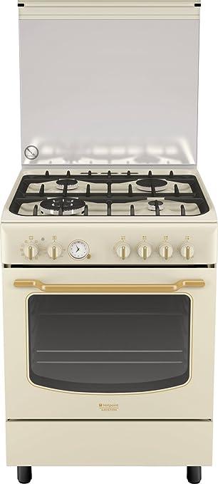 Hotpoint Ariston Cucina a Gas 4 fuochi Forno Elettrico 60x60 beige ...
