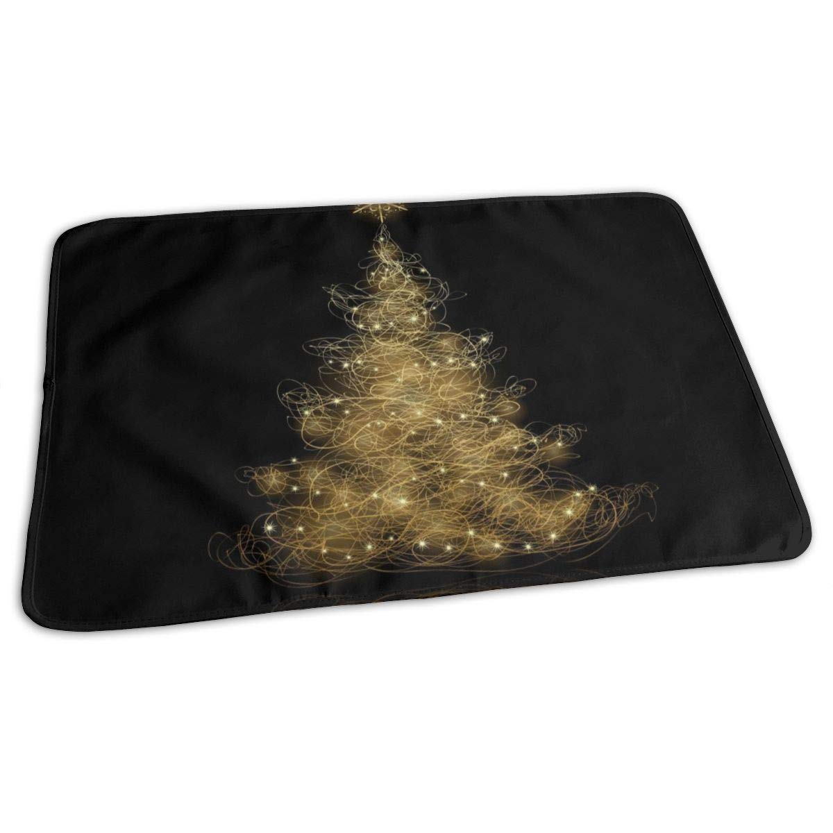 Osvbs Lovely Baby Reusable Waterproof Portable Golden Christmas Tree Changing Pad Home Travel 27.5''x19.7'' by Osvbs
