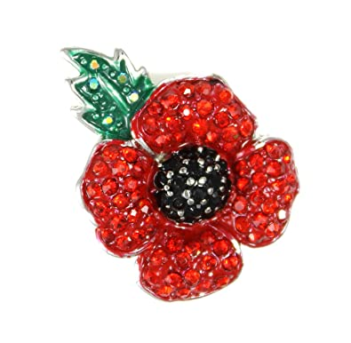 Angelys Poppy Jewellery - Four Petal Brooch - New Design - Gift