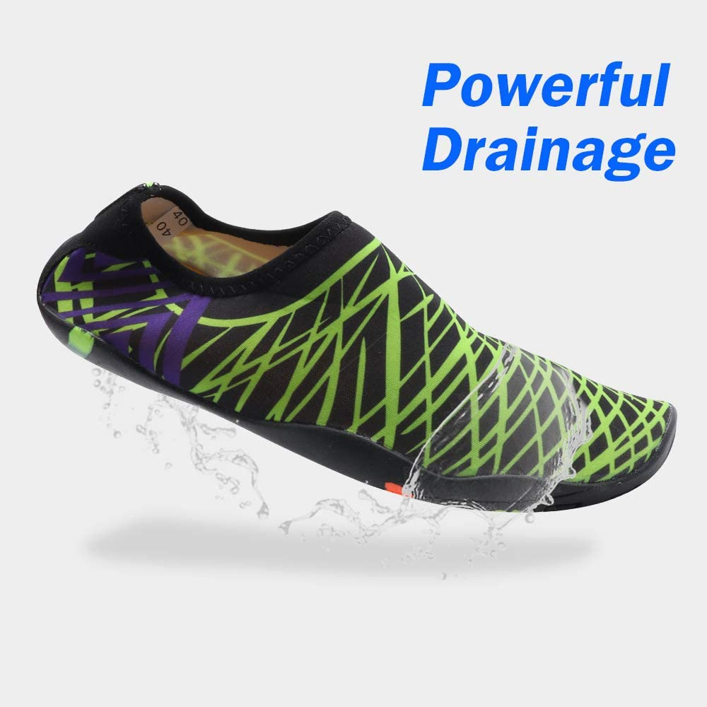 Quick-Dry Aqua Socks Pool Swim Casual Shoes for Outdoor Beach Swim Sports Yoga Snorkeling TLOG Womens and Mens Water Sports Shoes Colorful Pattern Lightweight Barefoot Beach Shoes