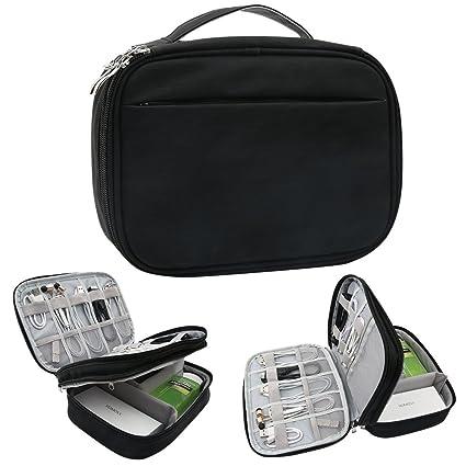 b63c39782298 Amazon.com: Hello Color Microfiber PU Electronic Organizer,Double ...