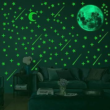 Family Room Circular Glow Luminous Stars Fluorescent Sticker Luminous Decoration