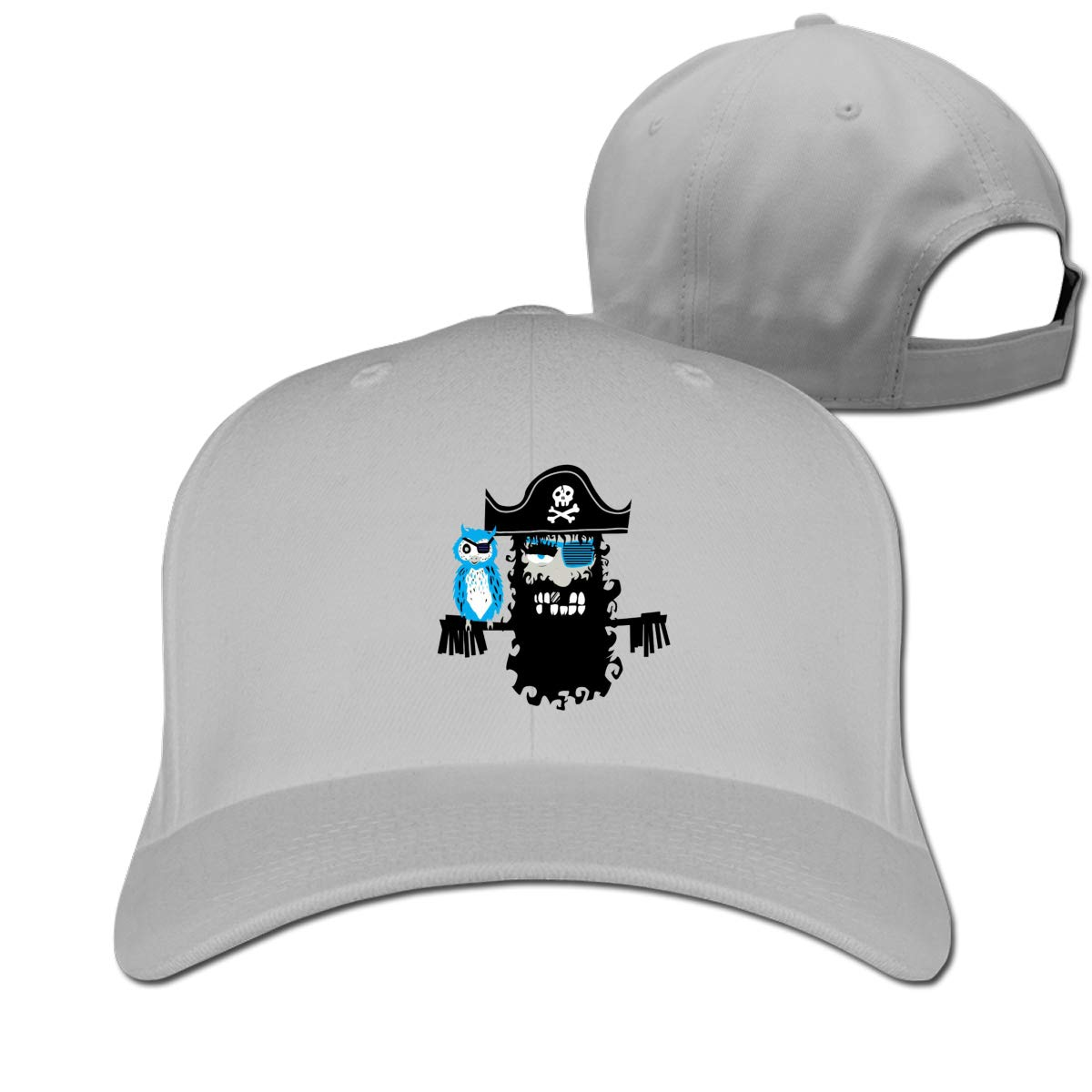 Fashion Pirates Fashion Adjustable Cotton Baseball Caps Trucker Driver Hat Outdoor Cap Gray