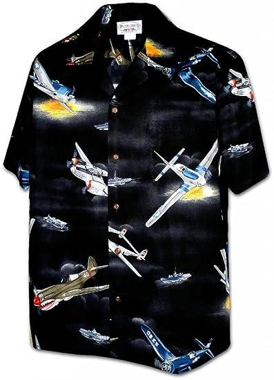2b26e4eb Amazon.com: Pacific Legend World War 2 Planes Men's Shirt Black: Clothing