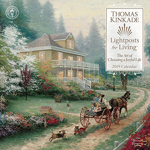 Thomas Kinkade Lightposts for Living 2019 Wall Calendar