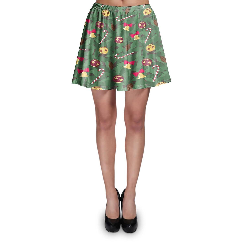 Christmas Tree Skater Skirt XS-3XL Stretch Flared Short Skirt
