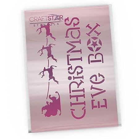 Craftstar Christmas Eve Box Stencil Reusable Mylar Craft Airbrush