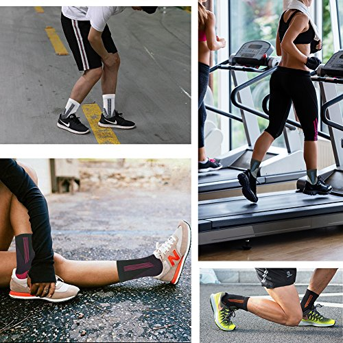 MUSCLE WAY Cushioned Quarter Athletic Running Cycling Socks for Men and Women