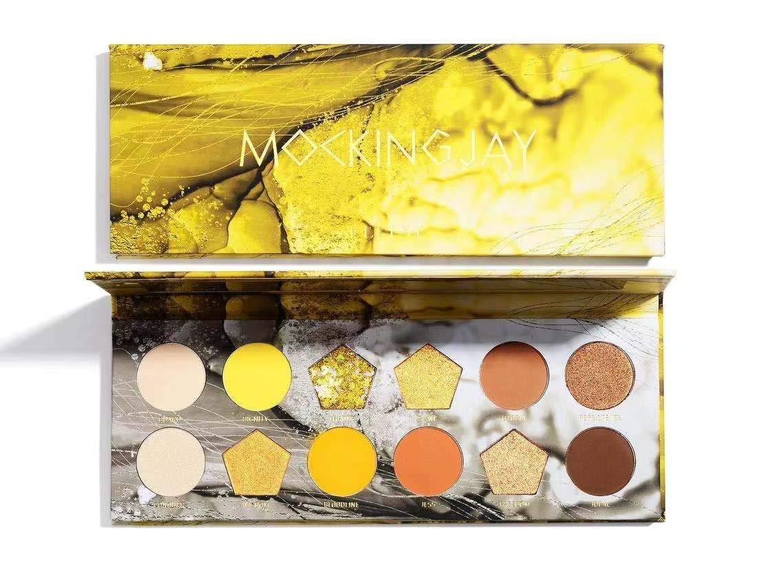 ELLESY Pigmented Eyeshadow Palette Matte + Shimmer 12 Colors Makeup Natural Bronze Neutral Smokey Blendable Waterproof Eye Shadows Cosmetic - E-1203
