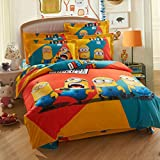 Minion Bedding Set Twin Queen King Size One In Minion Comforter Set 5pcs