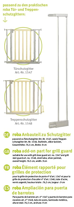 Extensi/ón barrera de seguridad de metal Roba-Kids 1542