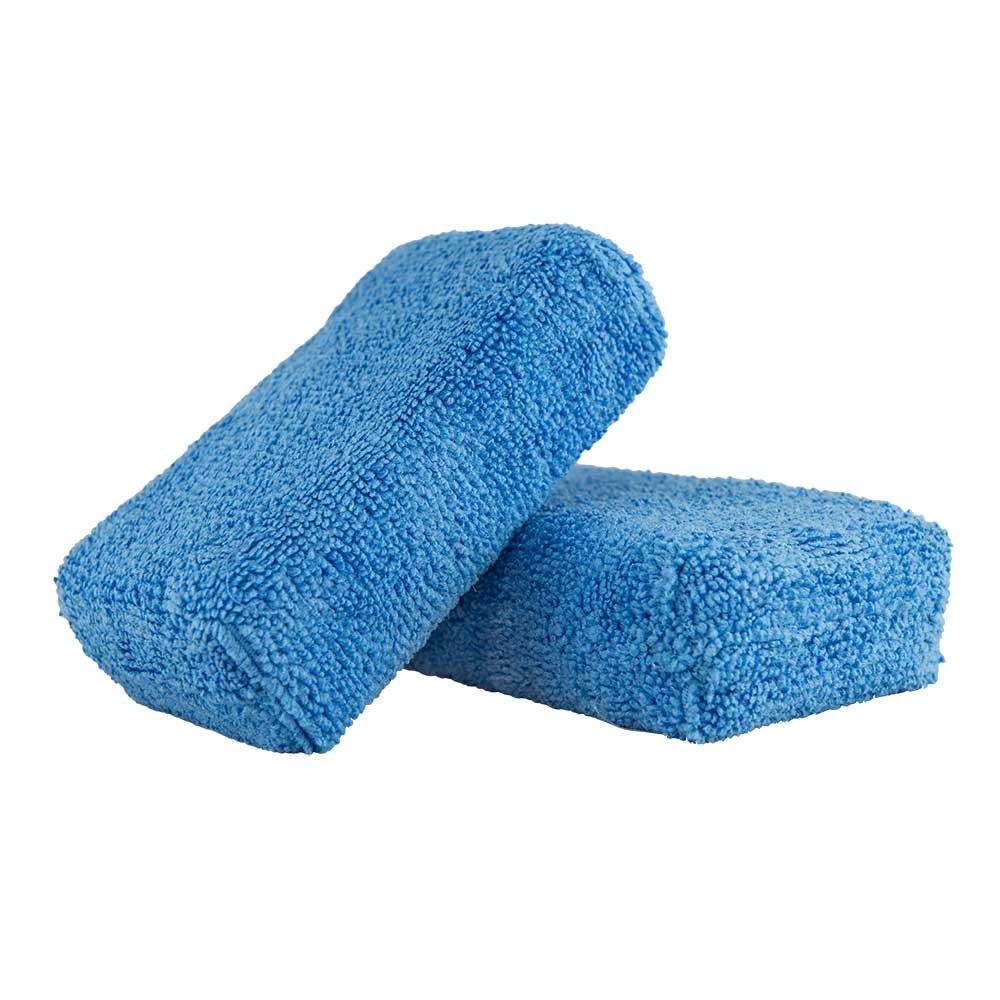 Chemical Guys MIC_292_02 Premium Grade Microfiber Applicator, Blue, Pack of 2