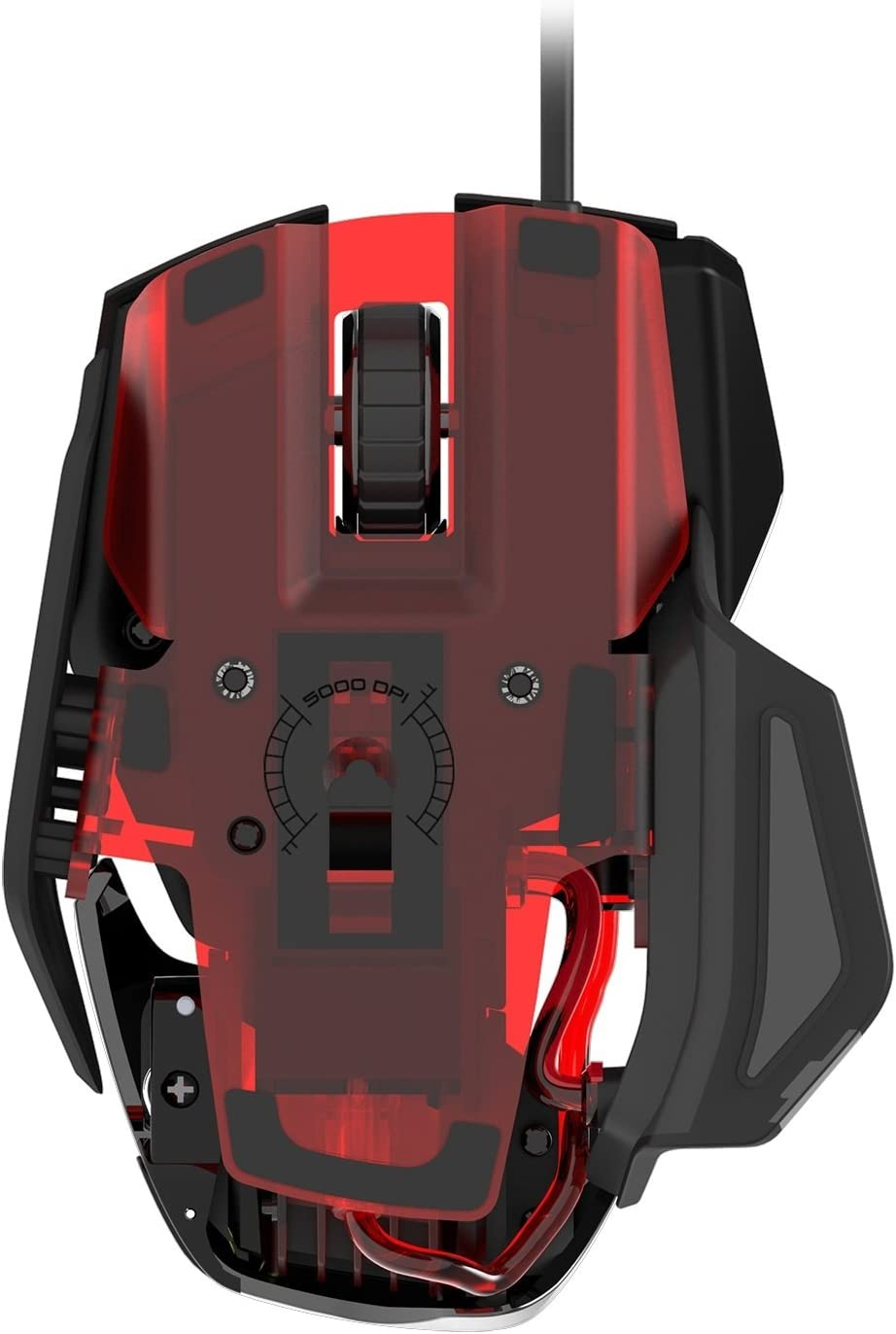 Adjustable Mad Catz RAT4 Wired Optical USB LED RGB Mouse with 9 Programmable Buttons Black