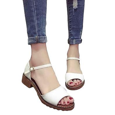 daabb58cfb46 Women Summer Sandals HEHEM Women Summer Lady Sandals Sweet Flat Shoes  Comfortable Beach Flip Flops Sandals