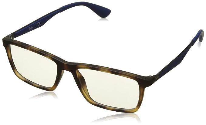Ray-Ban 0RX7056, Monturas de Gafas para Hombre, Matte Havana, 55: Amazon.es: Ropa y accesorios