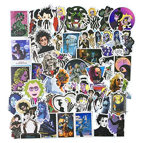 The Nightmare Before Christmas Accessories (Tim Burton's The Nightmare Before Christmas Movies Theme Stickers Laptop Stickers Waterproof Skateboard Snowboard Car Bicycle Luggage Decal 50pcs)