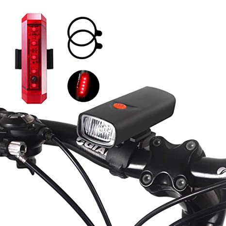 Luces De Bicicleta LED, Juego De Luces De Bicicleta Recargable USB ...