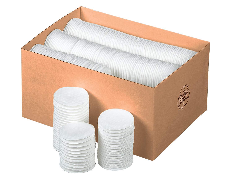 Kosmetikpads aus 100/% Baumwolle 1000 St/ück ツ ❤️ Wattepads Abschminkpads