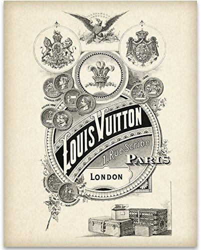 Louis Vuitton Vertical Art Print - 11x14 Unframed Art Print - Great Home and Bathroom Decor by Personalized Signs by Lone Star Art