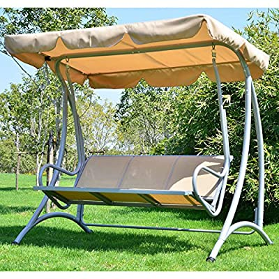 Outsunny-3-Seater-Canopy-Swing-Chair-Hammock-Garden-Outdoor-Patio-Metal-Rocking-Seat-