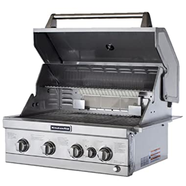 KitchenAid 4-Burner Built-In Stainless Steel Built-In Propane Gas Island  Grill Head with Rotisserie Burner | Compare Prices, Set Price Alerts, and  ...