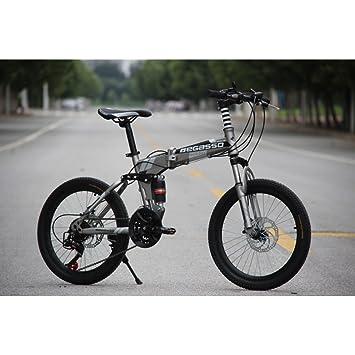 YEARLY Bicicleta plegable estudiante, Bicicleta plegable infantil Hombres y mujeres 21 velocidades Frenos de disco
