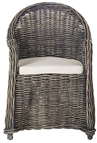 Safavieh Home Collection Callista Black Wash Wicker Club Chair