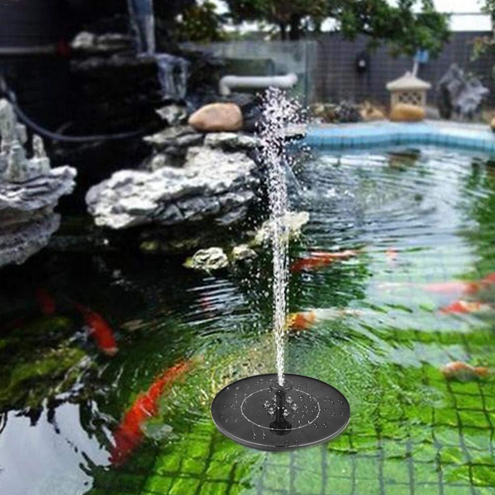 d/écor d/étang de Bassin Pompe de Fontaine Solaire de Fontaine de Bain doiseau Pompe de Fontaine actionn/ée Solaire de 2.4W avec la lumi/ère de LED