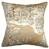 The Pillow Collection Feramin Toile Floor Pillow Safari Front
