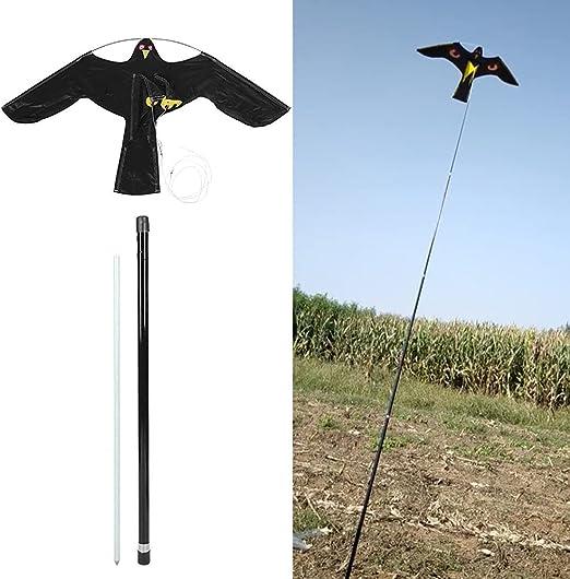 PYCFLY Bird Scarer Bird Eagle Bird Kite, Defenders Hawk Kite, Bird Repeller Hawk Kite Extendable Bird Repellent Kite with 5M Telescopic Pole for Backyard Lawn and Farm