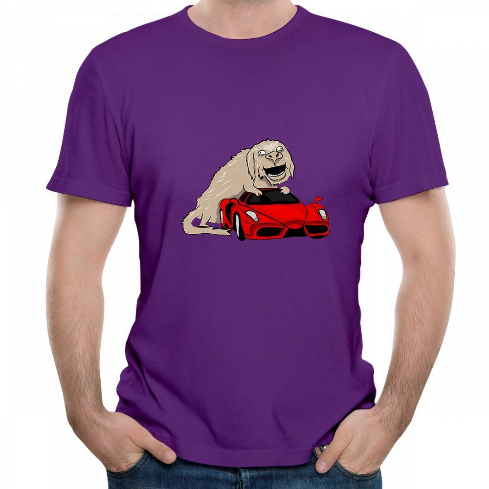 Jackdona Monster Add Car Equal Tesla Printed Short Sleeve T Shirts For