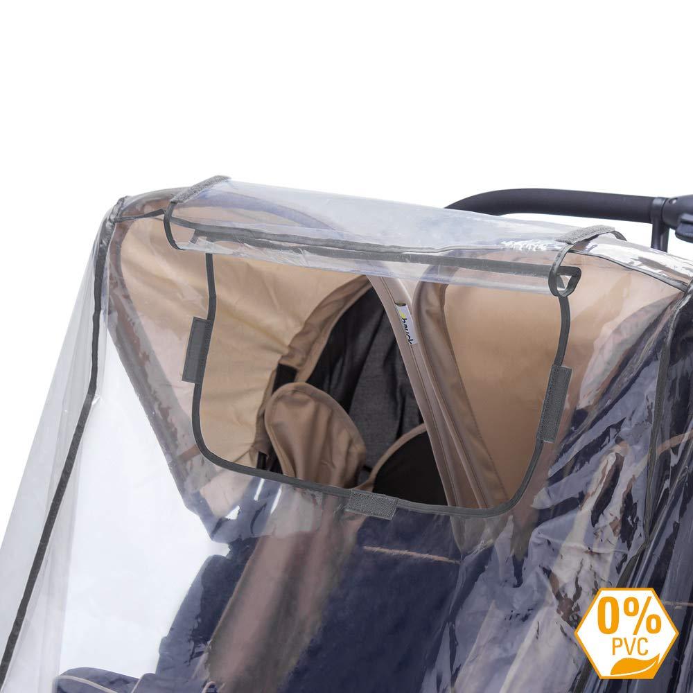 ohne PVC passend f/ür jeden Zwillingswagen Universal Regenschutz f/ür Zwillingswagen // Zwillingsbuggy // Regenhaube mit verschlie/ßbarem Fenster Schadstofffrei