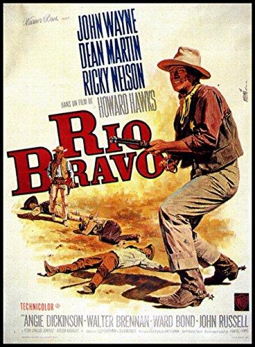 Rio Bravo Fridge Magnet 2.5 x 3.5 John Wayne Movie Poster Magnetic Canvas Print