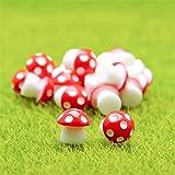 Danmu 10pcs Mini PVC Mushrooms Miniature Figurines, Fairy Garden Accessories, Fairy Garden Animals, Fairy Garden…