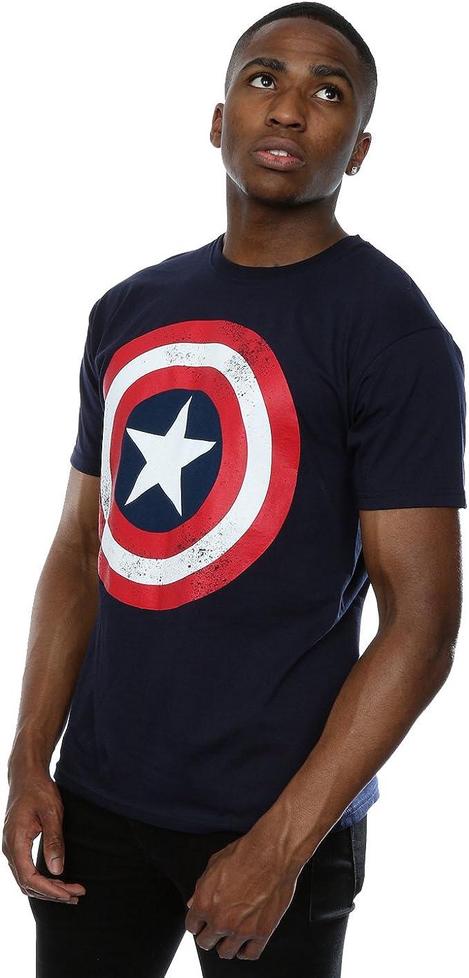 Distressed Captain Rogers Mens Funny Superhero T-Shirt Avengers
