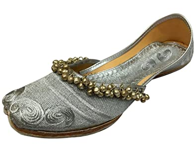 Step n Style Schritt N Style Damen Panjabi Jutti Ethnic Khussa Schuhe Pakistanischen Indischen Handgefertigt Schuh, Rot - Rot - Größe: 38