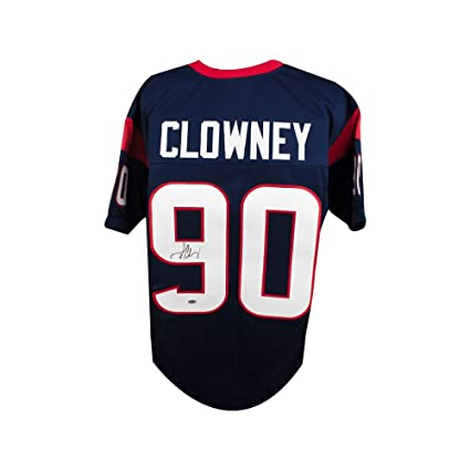 Image Unavailable. Image not available for. Color  Jadeveon Clowney  Autographed Houston Texans Custom Navy Football Jersey ... 27e7d7906