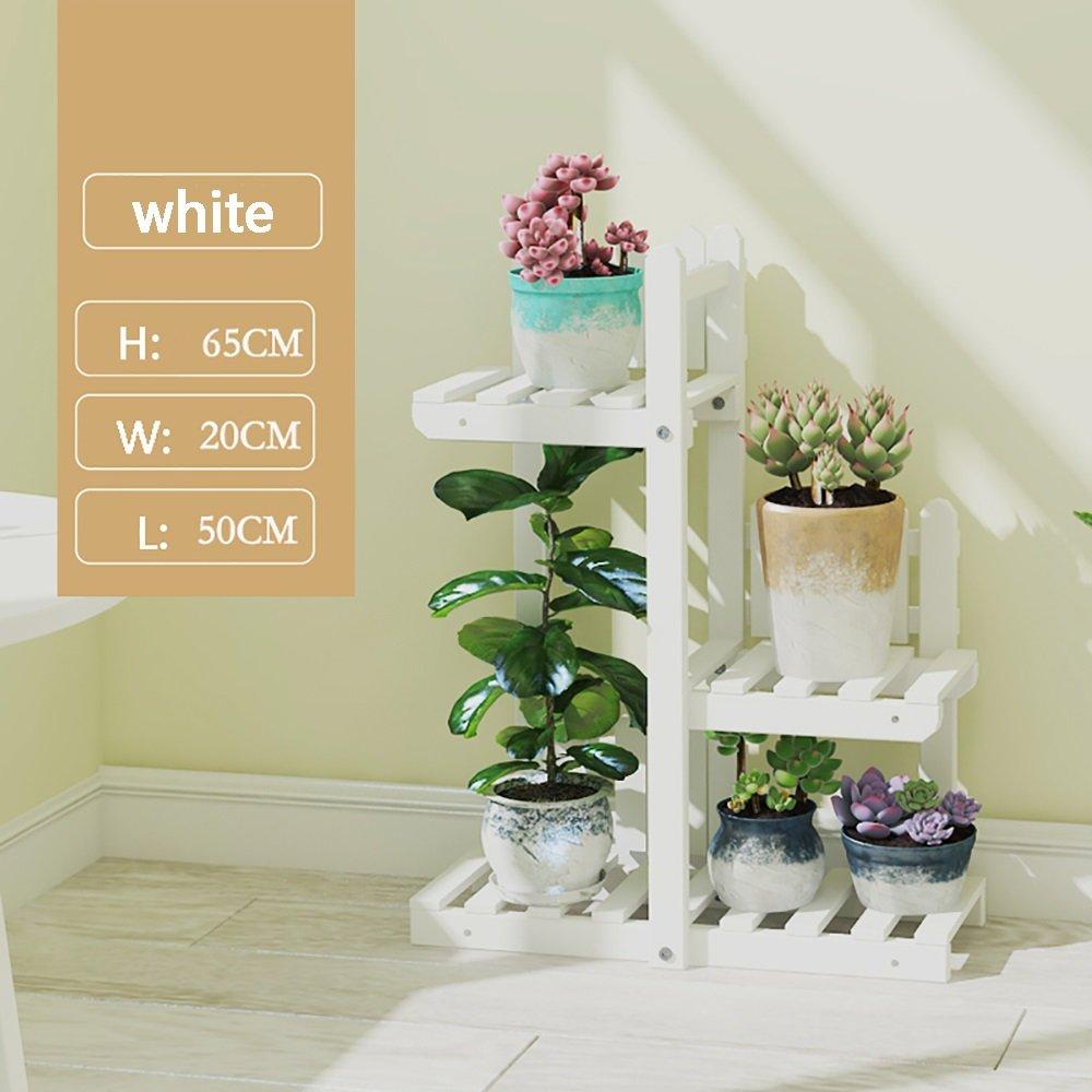 Fioriera In Legno Multistrato Da Terra Con Balcone Interno Stand Per Piante Soggiorno Patio Esterno (colore   Bianca, dimensioni   3-tier)
