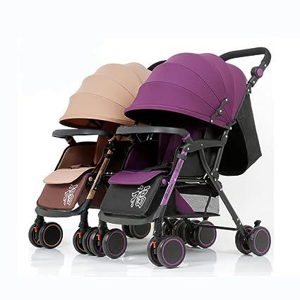 YXINY Carritos y sillas de Paseo Gemelos 1-3 Años De Edad Carrito De Bebe