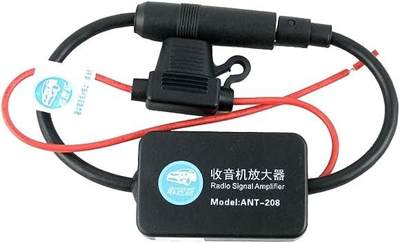 HuntGold Amplificador de señal de antena FM en línea para coche
