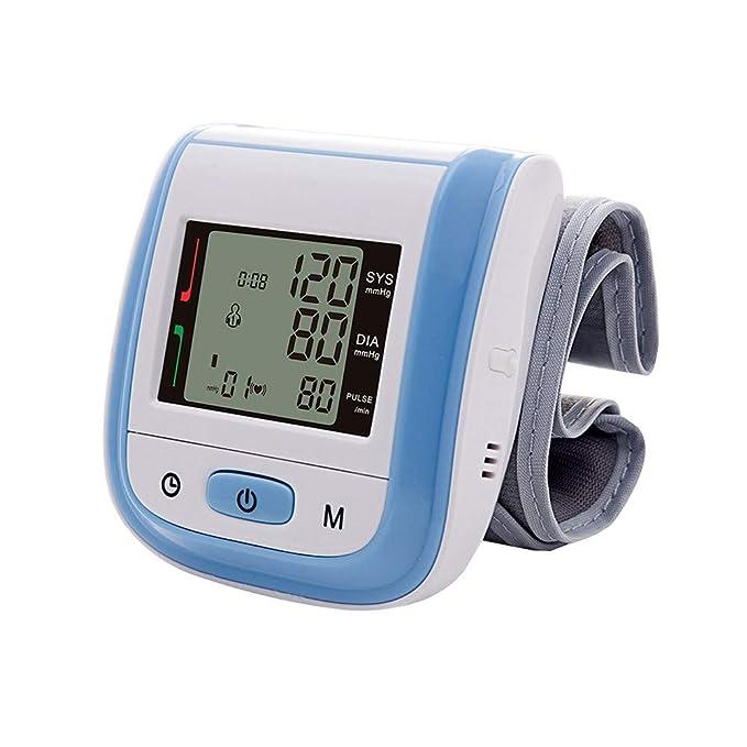 Tensiómetro de muñeca,Tensiómetro Digital Portátil De Muñeca Totalmente Automático Presión Arterial Y Detección De Pulso Arrítmico Memoria (2 * 99): ...