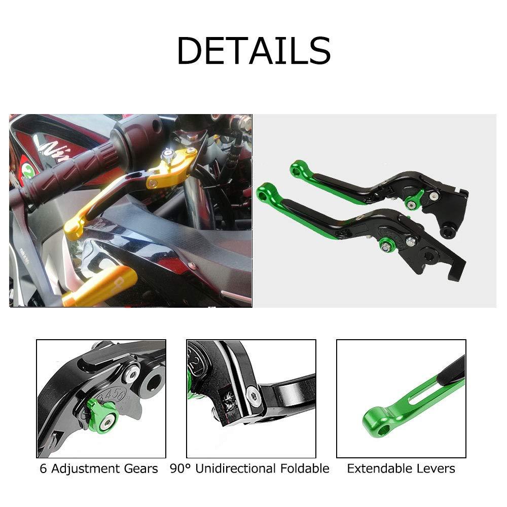 EX250R Versys 300X Ninja 250//R 300R 400R Set Leve Freno e Frizione Regolabile Pieghevoli Per Kawasaki Ninja 125 2019 Z125 Pro Z250 Z250SL Z300 Z300X
