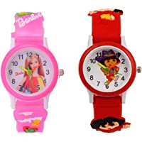 Swadesi Stuff Analogue Multi Color Dial Kids Watch for Boys and Girls - Combo of 2 Watches