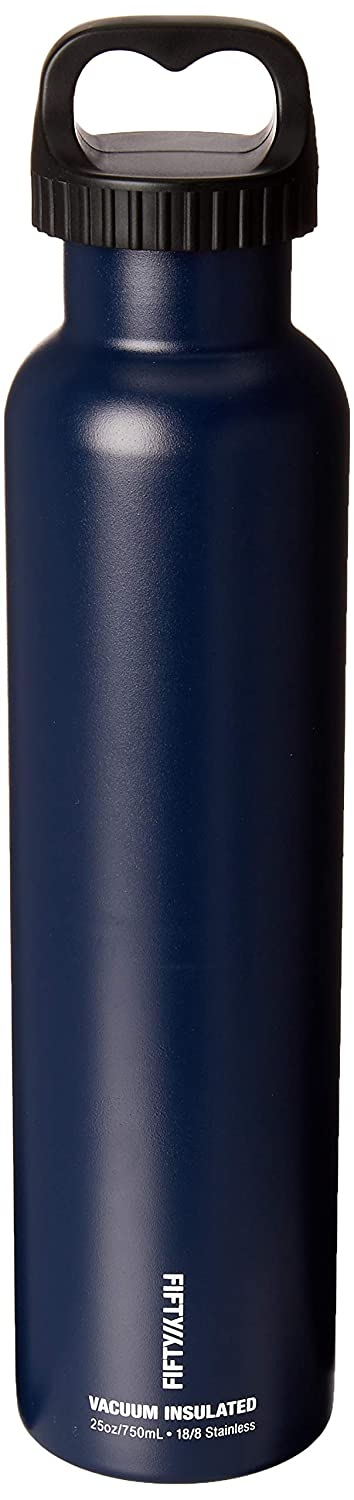 Navy Capacity FIFTY//FIFTY Vacuum-Insulated Stainless Steel Bottle with Wide Mouth 34 oz